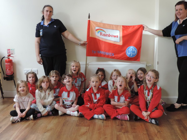 September 8th and courtesy of of his company Work Area Ltd, the 1st Hardwick Rainbows finally have their own flag.