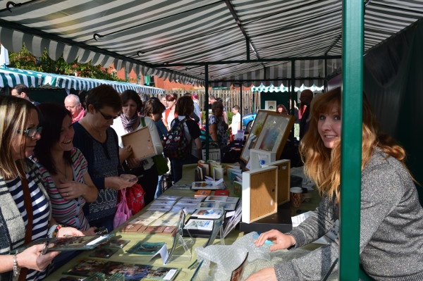 Busy stall at Banbury Canal Day 2015