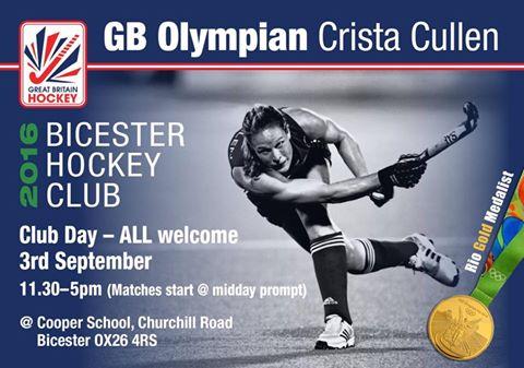 Crista Cullen to attend Bicester Club