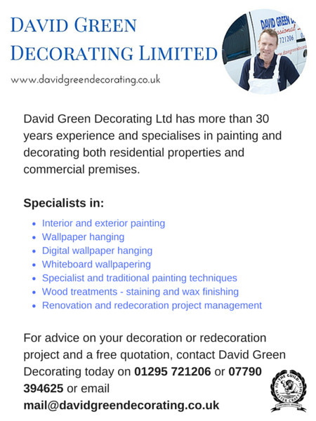 David Green Decorating based in Banbury, Oxfordshire, is a City and Guilds qualified Master Craftsman. Providing an extensive range of decorating services.