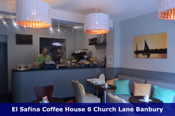 From an Arabic word meaning 'Vessel', El Safina is the perfect place to relax and refuel in the heart of historic Banbury.