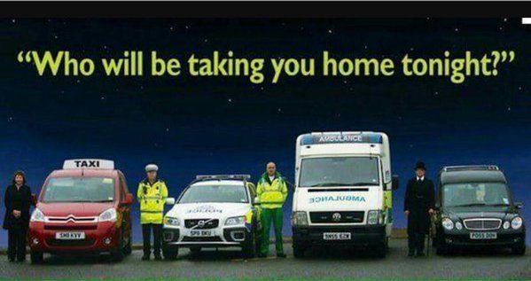 Anti Drink Drive Where Will You End Up