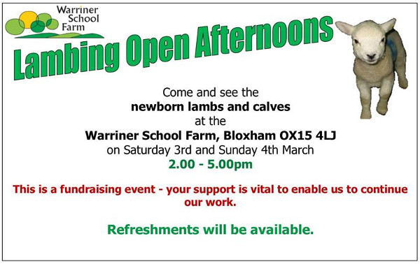 Lambing Open Afternoon Hosted by Warriner School Farm