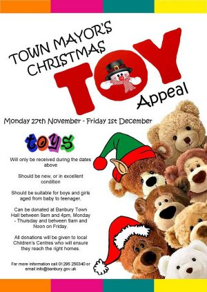 Banbury Town Mayor makes appeal for toys