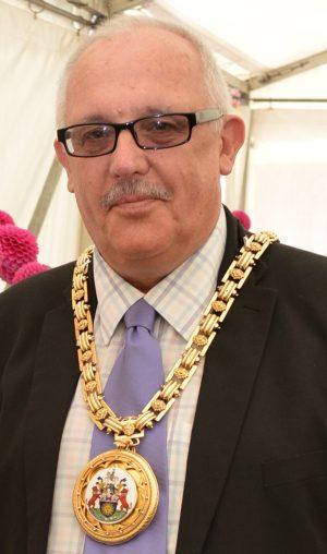 Cllr Mepham as mayor in 2016