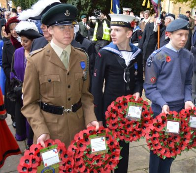 Crowds lined Banbury's streets on Sunday as more than 300 people took part in the town's Remembrance Day parade