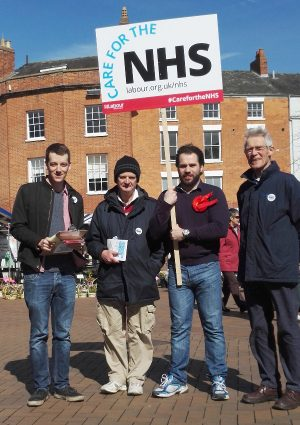Left to right; Candidate JosephWalsh, Phil Richards, Cllr Sean Woodcock, Roger Shapley (former GP)