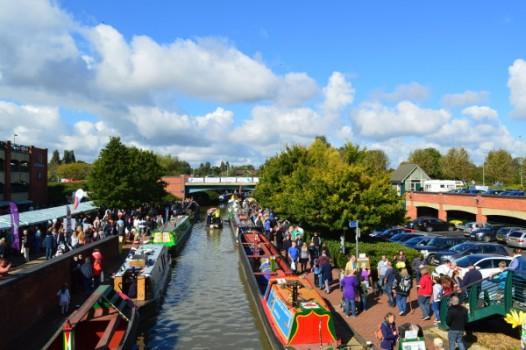 Overlooking the Canal on Banbury Canal day 2016
