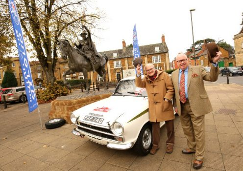 Douglas Anderson (left) with Cllr Mallon and a classic car from the Oxford Motor Club