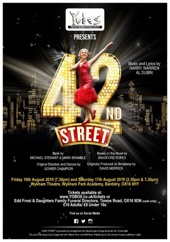 42nd Street. By YOBOS - Youth of Banbury Operatic Society
