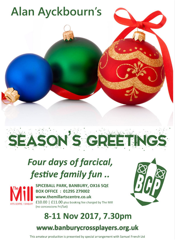 Banbury Cross Players present - Alan Ayckbourn's Season's Greetings