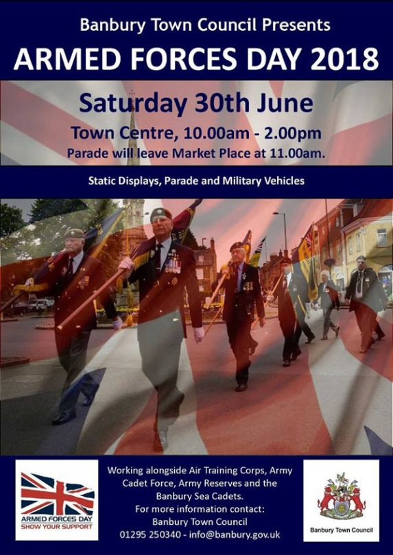 Armed Forces Day in Banbury Saturday 30th June 2018