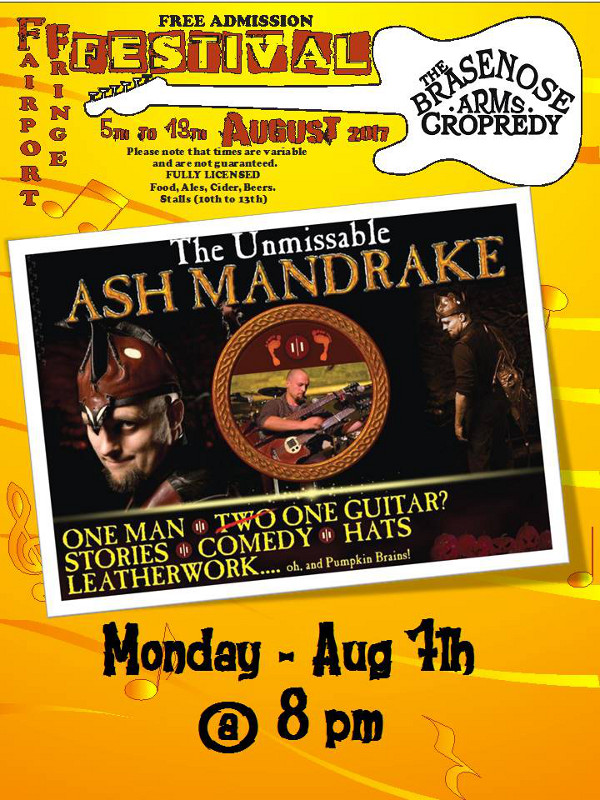 Ash Mandrake Hosted by the Brasenose Arms