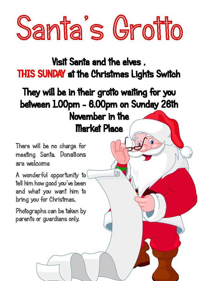 Banbury Christmas Lights Santa grotto 26 November 2017