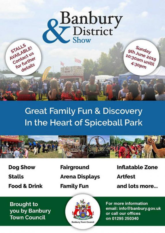 Banbury & District Show 2019. Hosted by Banbury Town Council Events.