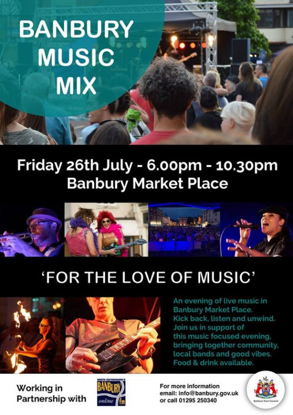 Following the popular inaugural Banbury Music Mix last year the event will make its return for 2019 for your 'Friday Night Live'