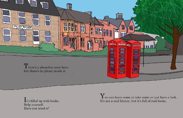 Banbury's Phone Box Library's first ever Story Time.