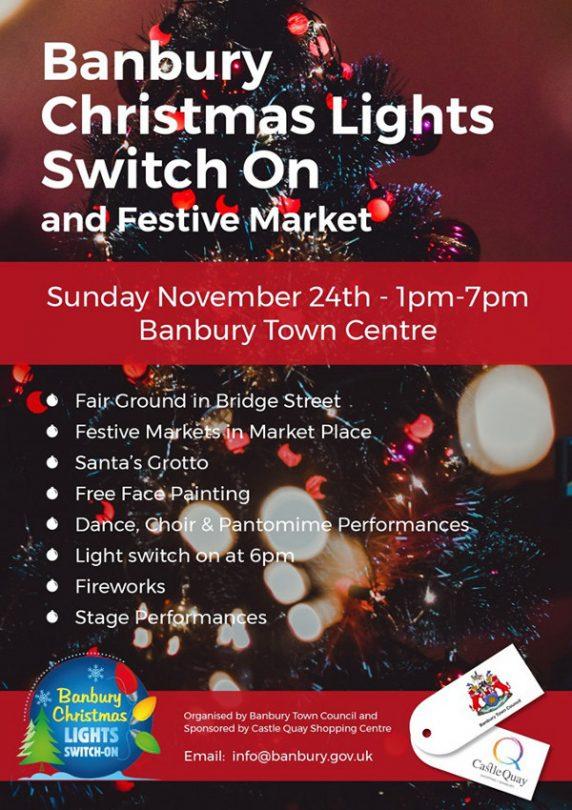 Christmas Lights Festival on Sunday 24 November.
