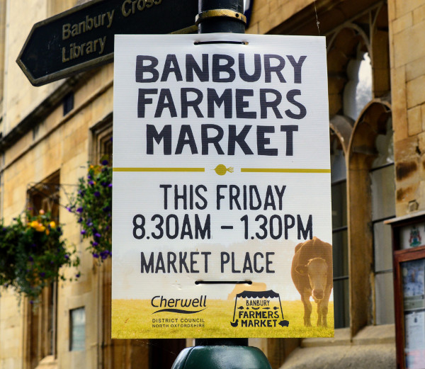 Banbury Famers Market is on the first Friday of every month