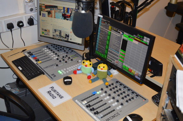 Banburyshire Info mascots at Puritans Radio for the Banburyshire Show