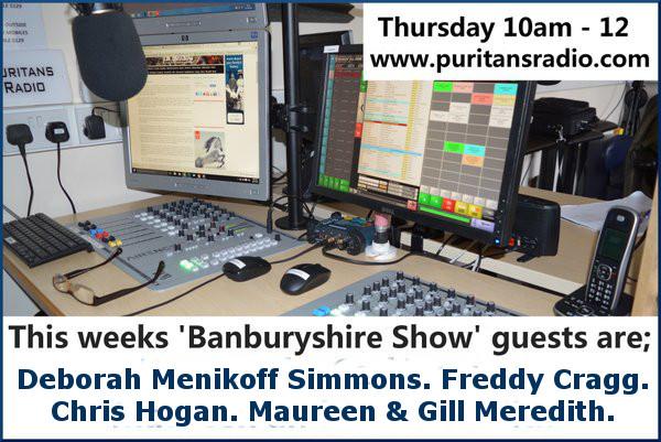 Banburyshire Show guests 7 june 2016 Chris Hogan, Maureen Meredith & Gill Meredith, Deborah Menikoff Simmons & Freddy Cragg.