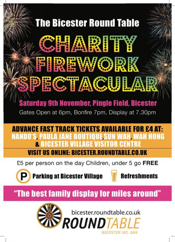 Bicester Round Table Firework Display and Bonfire.