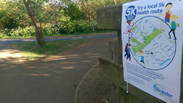 New Bicester health route offer residents a new place to exercise outdoors.