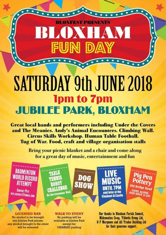 Bloxham Family Fun Day returns to the Jubilee Park for 2018.