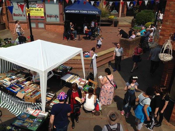 Books & Ink Outside Book Sale on Banbury Old Town Spring Party Day