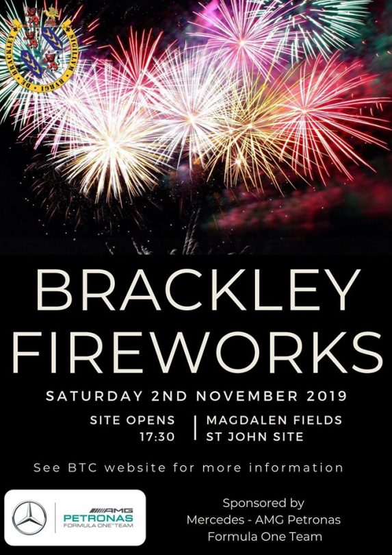 Mercedes AMG Petronas Formula One Team are sponsoring the fireworks in Brackley once again this year!