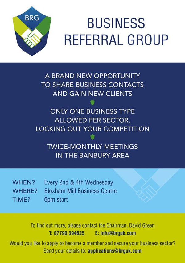 Business Referral Group based in Bloxham Mill, Oxfordshire.