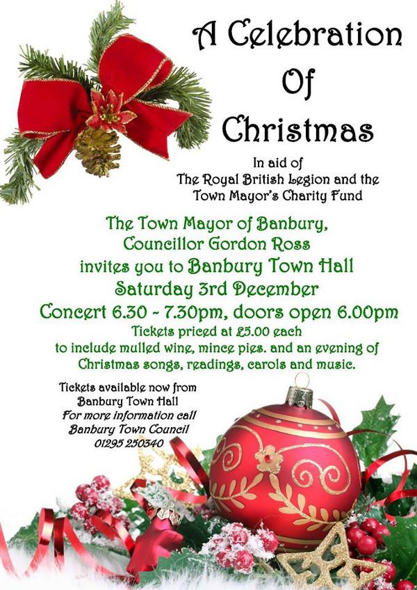 a celebration of christmas at banbury town hall - British Christmas Songs