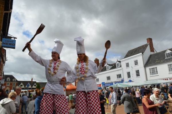Chefs on stilts at Banbury Food Fair 2016
