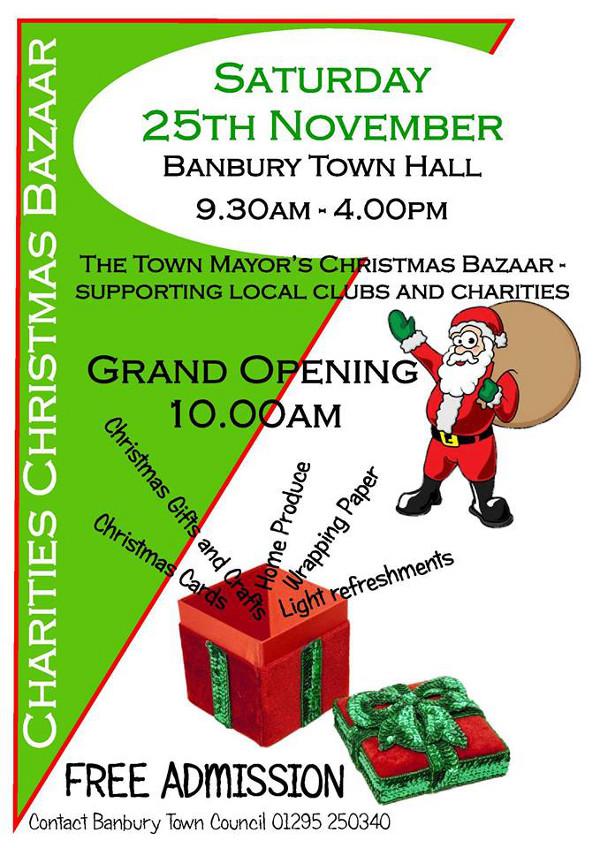 Date set for Banbury town mayor's annual Christmas Bazaar.