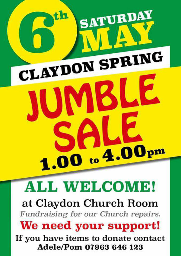 Claydon Jumble Spring Sale