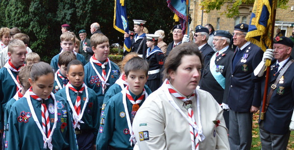 Service men and women, veterans and civilians take part in Banbury Remembrance Day parade