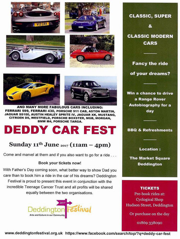 For the first time, the Festival will play host to Deddy Car Fest