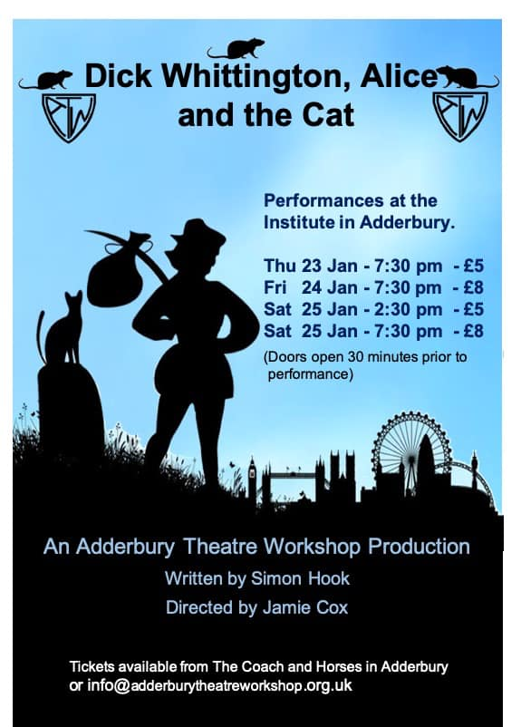 Adderbury Theatre Workshop present Dick Whittington, Alice and the Cat