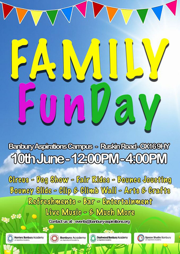 Family Fun Day taking place at Banbury Academy.