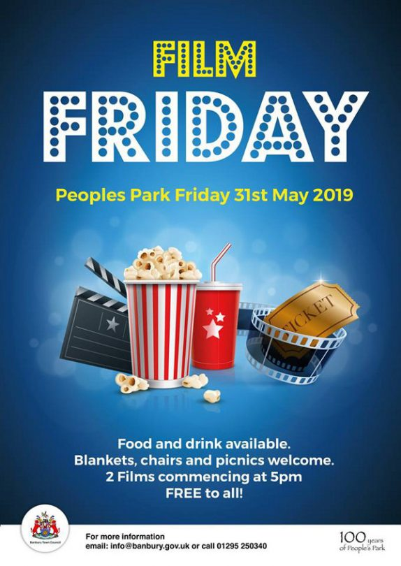To help celebrate 100yrs of People's Park, Banbury Town Council Events invite you to Film Friday.