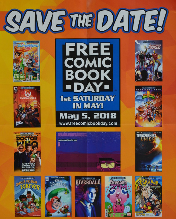 Free Comic Book Day is an annual event for comic book shops to celebrate the awesome medium of comics.