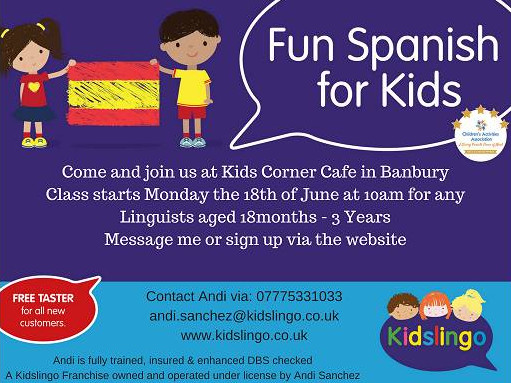 Fun Spanish for Kids - with Andi Sanchez, Kidslingo Hosted by Kids Corner Cafe