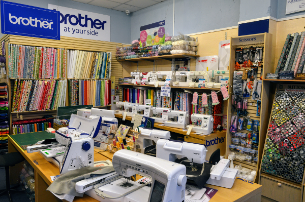 Stockists for King Cole knitting wool, knitting / crochet patterns, haberdashery, Liberty of London Fabric as well as other high quality quilting fabrics, plus all sewing accessories, and sewing machines mainly by Brother and Janome.