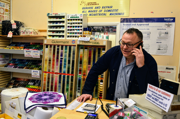 18 years ago Gary Sharpe co founded with Anthony Mallon (now retired) GTS Sewing Machines LTD. Now Oxfordshire's largest dealer in both domestic and industrial sewing machines, overlockers and embroidery machines.