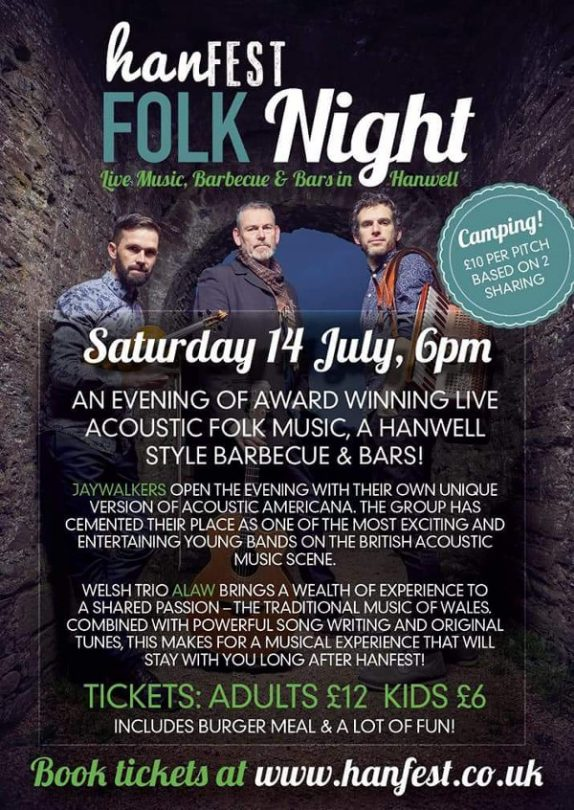 At 6pm HanFEST reopens for a very special ticketed village folk night and barbecue with award winning artists performing