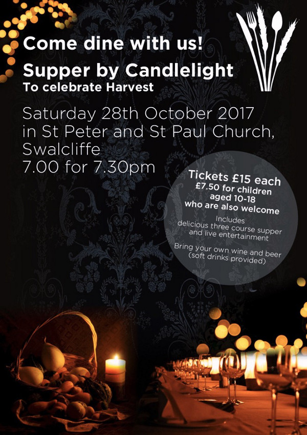 Harvest Supper by Candlelight in Swalcliffe Church