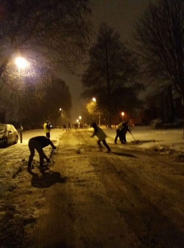 Hightown road in Banbury, Picture by Hightown Road resident Andy Freeman