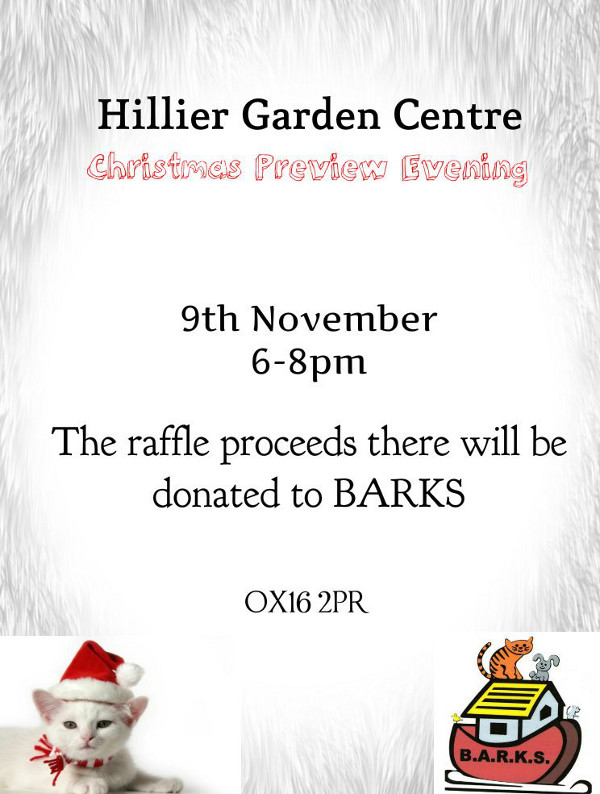 Come on down to Hillier Garden Centre 6-8pm for their Christmas preview evening.
