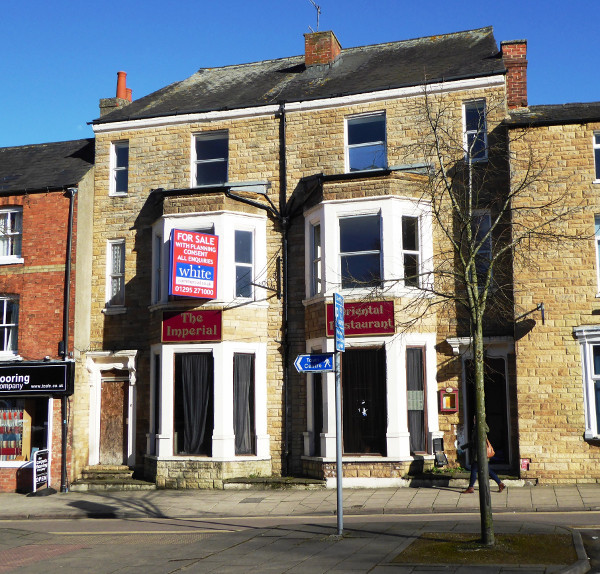 Old Imperial Chinese restaurant to become residential flats.