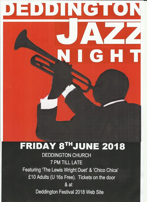 Once again we are proud to present an evening of world class jazz in Deddington.